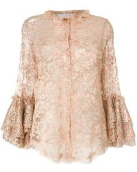 Daizy Shely - Flower Lace Top - Lyst