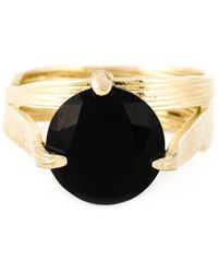 Wouters & Hendrix - 'bamboo' Onyx Set Of Rings - Lyst