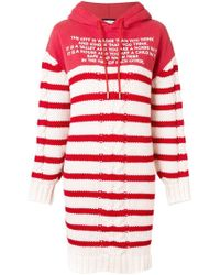 Each x Other - Mix Media Striped Sailor Knit Hoodie Dress - Lyst