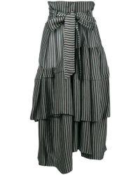 Christian Wijnants - Saida Striped Asymmetric Skirt - Lyst