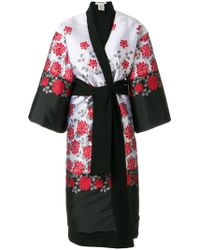 Stefano Mortari - Floral Embroidered Coat - Lyst