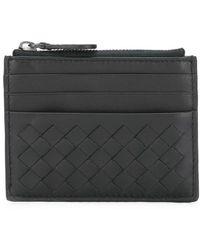 Bottega Veneta - Woven Zipped Wallet - Lyst
