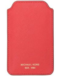 558532cdd8f1 MICHAEL Michael Kors Makeup Bag Trio in Brown - Lyst