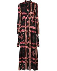 Fisico - Longsleeved Buttoned Up Long Dress - Lyst