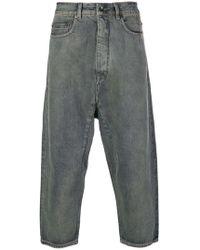 Rick Owens Drkshdw - Cropped Loose Jeans - Lyst