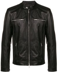 4c208bb2a4a Lyst - Schott Nyc  chips  Slim Fit Moto Leather Jacket in Black for Men