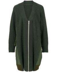 Sacai - Oversized Knitted Jacket - Lyst