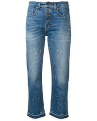 Veronica Beard - Paint Splatter Cropped Jeans - Lyst