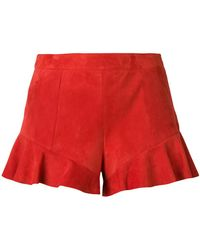 DROMe - Ruffled Hem Shorts - Lyst