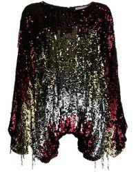 Amen - Sequin Long Sleeve Blouse - Lyst