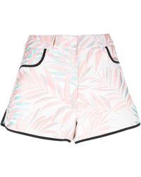 House of Holland - Palm Leaf Shorts - Lyst