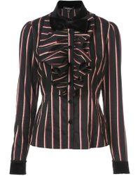 Jill Stuart - Bow Striped Shirt - Lyst