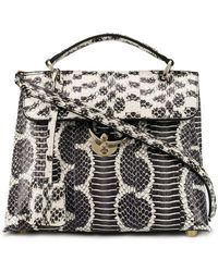 2445bf02fb3b Saint Laurent Sac De Jour Nano Curvy Stripe Snakeskin Tote Bag in ...