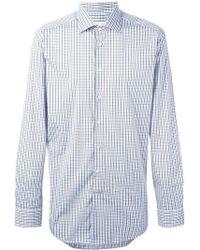 Etro - Checked Button Down Shirt - Lyst