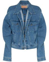 Y. Project - Blue Double Front Denim Jacket - Lyst