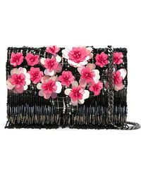 Isla - Tweed Embroidered Shoulder Bag - Lyst