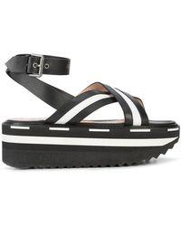 Moschino - Flatform Monochrome Sandals - Lyst