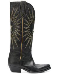Golden Goose Deluxe Brand - Black Knee Length Embroidered Boots - Lyst