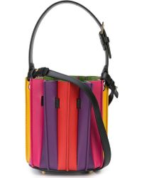 Sara Battaglia - Mini Plisse Bucket Bag - Lyst