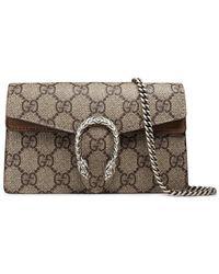 Gucci - Beige Dionysus GG Supreme Super Mini Bag - Lyst
