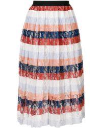 Essentiel Antwerp - Palms Pleated Skirt - Lyst