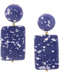 Lele Sadoughi - Marble Effect Post Earrings - Lyst