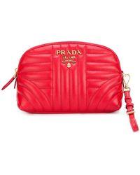 Prada - Quilted Zip Around Make-up Bag - Lyst