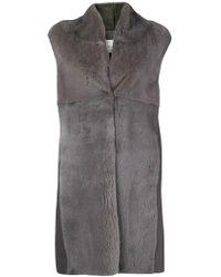 Manzoni 24 - Sleeveless Fur Coat - Lyst