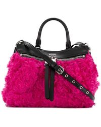 Moschino - Shearling Zipped Tote - Lyst