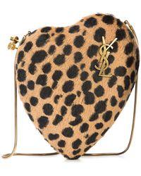 Saint Laurent - Leopard Print Love Box Clutch - Lyst