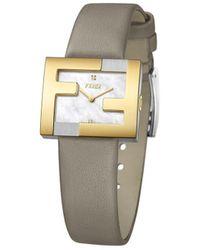Fendi - Ff Logo Embellished Watch - Lyst