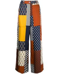 Tory Burch - Patch-work Flared Trousers - Lyst
