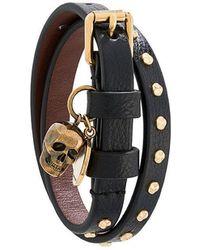 Alexander McQueen - Bracelet multi-tours à breloque tête de mort - Lyst 383253990d3