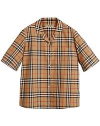 Burberry - Short-sleeve Vintage Check Shirt - Lyst