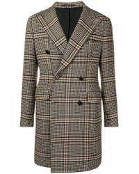 Tagliatore - Classic Checked Coat - Lyst