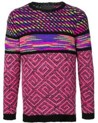 The Elder Statesman - Cashmere Mixed Pattern Knitted Jumper - Lyst