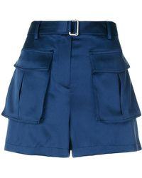 Theory - Pocket Mini Shorts - Lyst
