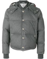 Thom Browne - Tonal Grosgrain Down-filled Bomber Jacket - Lyst
