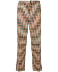 Closed - Checked Trousers - Lyst