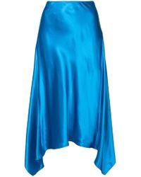 Sies Marjan - Curved Hem Midi Skirt - Lyst