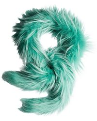 Prada - Fox Fur Scarf - Lyst