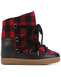 Isabel Marant - Tartan Shearling Nowles Boots - Lyst