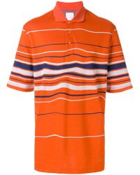 Martine Rose - Striped Polo Shirt - Lyst
