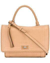 5aad100df7e Givenchy 'shark' Medium Leather Flap Bag in Blue - Lyst