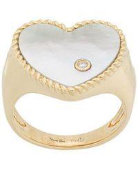 Yvonne Léon - 18kt Gold And Diamond Heart Ring - Lyst