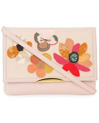 Lizzie Fortunato - Floral Embroidered Shoulder Bag - Lyst
