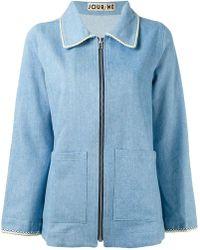 JOUR/NÉ - Zipped Denim Jacket - Lyst