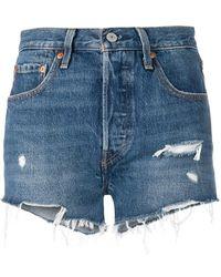 Levi's - Pantalones cortos con borde deshilachado - Lyst