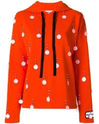 Au Jour Le Jour - Sequin Embellished Hoodie - Lyst