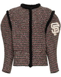 ceb67df6e Gucci Gg Textured Silk, Wool & Linen Tweed Jacket in White - Lyst